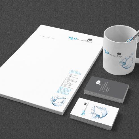 Corporate Design, hier bestehend aus Konzeption, Logo Design, Definition Hausfarben, Typographie, Schrift, Briefbogen, Folgebogen, Satzspiegel für Briefbogen + Folgebogen, Visitenkarte